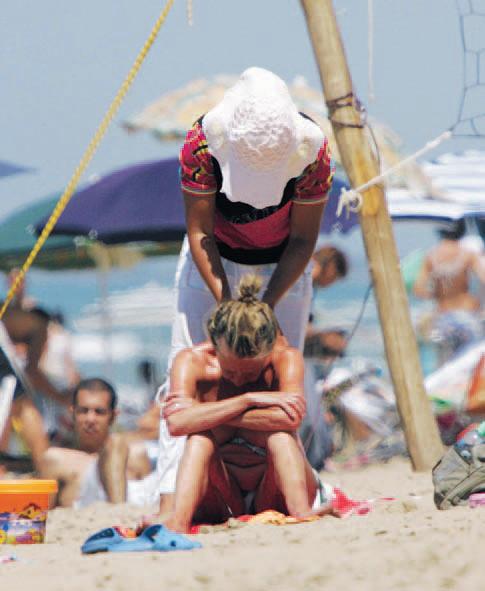 massaggi in spiaggia